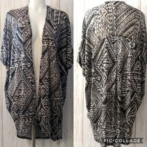 Painted Threads Dolman Sleeve Kimono Cardigan